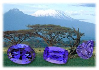 Tanzanite found at the foot of Mount Kilimanjaro